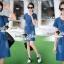 ชุดเดรสเกาหลี พร้อมส่งLV Pocket stick Denim Dress thumbnail 7