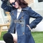 Sophie Winter Double-Breasted Washed Denim Coat thumbnail 2