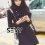 ชุดเดรสเกาหลี พร้อมส่งMini dress ไหมพรมลุคเรียบหรู thumbnail 6