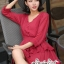 Mini Layered Dress Red Blood&White Classic Lace hem thumbnail 3