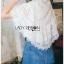 เสื้อผ้าเกาหลีพร้อมส่ง เชิ้ตผ้าชีฟองผสมคอตตอนตกแต่งลูกไม้สไตล์วินเทจ thumbnail 5