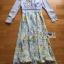 Eva Flower Blossom Printed Baby Blue Maxi Dress thumbnail 7