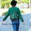 เสื้อผ้าเกาหลี พร้อมส่ง เสื้อแจ๊ตเก็ตลายเอกลักษณ์แบรนด์ Gucci thumbnail 5