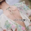 Leandra Magic Garden Ruffle Printed Chiffon Dress thumbnail 5