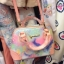 Lynaround Bag. (มีจำกัดนะคะ) กระเป๋าหนังทรงน่ารักๆกะทัดรัดสกรีนลาย Dream woodland สีสันน่ารักลายคมชัด มีกระเป๋าเลกๆรูปหัวใจสกรีนลายเดวกับกระเป๋าหัวซิปปั้มลายlynaround เกบลายละเอียดเปะ ความเหมือนอยู่ที่100% thumbnail 4