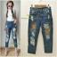 เสื้อผ้าแฟชั่นพร้อมส่ง กางเกงยีนส์ ขายาว ทรงบอย งาน Zara thumbnail 5