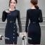 เสื้อผ้าเกาหลี พร้อมส่งElegant 2 Tones Dress -mini dress thumbnail 3