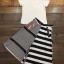 เสื้อผ้าเกาหลี พร้อมส่งZebra Shirt + B&W Line Skirt Set thumbnail 10