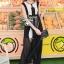 Elegant Stitch Black&White Long Dress thumbnail 1