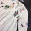 เสื้อผ้าเกาหลีพร้อมส่ง เสื้อคอจีนสีขาว แขนศอก thumbnail 5