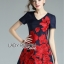 ชุดเดรสเกาหลี พร้อมส่งมินิเดรสปักลายดอกกุหลาบสีแดงสไตล์หวานปรเซ็กซี่ thumbnail 9