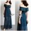 Lizzy Twist Off-Shoulder Chiffon Maxi Dress thumbnail 4