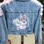Jacket jean งานปักไม้สวย thumbnail 2