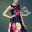 เสื้อผ้าเกาหลี พร้อมส่ง เดรสเนื้อผ้า silk หรูหรา เซ็ทตัวเป็นทรงสวย thumbnail 6