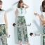 เสื้อผ้าเกาหลีพร้อมส่ง Shamrock Summer Print Pants Blouse Set thumbnail 7