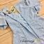 เสื้อผ้าแฟชั่นพร้อมส่ง จั้มสูทสกรีน Polka dot สีเงินคมชัด thumbnail 5