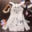 เสื้อผ้าเกาหลี พร้อมส่ง เสื้อคลุมกระต่ายแขนยาวนุ้มมนุ่ม เก๋ๆด้วยดีเทลแต่งฮู้ดหูกระต่าย thumbnail 5