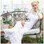Meryl Basic Laser-Cut White Cotton Dress thumbnail 4