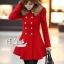 เสื้อผ้าเกาหลี พร้อมส่งเสื้อโค้ทสีแดงแต่งขนเฟอ thumbnail 2