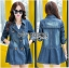 Sophie Winter Double-Breasted Washed Denim Coat thumbnail 7
