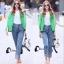 เสื้อผ้าเกาหลีพร้อมส่ง กางเกงยีนส์ขายาวสีซีด เอวสูง thumbnail 2