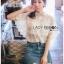 เสื้อผ้าเกาหลีพร้อมส่ง เชิ้ตผ้าชีฟองผสมคอตตอนตกแต่งลูกไม้สไตล์วินเทจ thumbnail 1