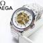 นาฬิกาแฟชั่นแบรนด์ omega *รายละเอียดสินค้า* -นาฬิกาสายเลส สี 2 เค สีเงิน -ระบบเรือน ออโต้ โชว์เฟือง -เพศที่สวมใส่ ชาย -ขนาดหน้าปัด 40 mm. ราคา 1090฿ thumbnail 4
