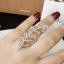 พร้อมส่ง แหวนใบไม้งานเพชร CZ แท้ thumbnail 1