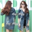 Kate Double-Breast Denim Dress with Hood thumbnail 2