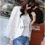 Maria Elegant Double-Breast White Lace Jacket thumbnail 7