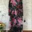 colorful rose printed long sleeve maxi dress thumbnail 6
