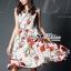 ชุดเดรสเกาหลี พร้อมส่งเดรสแขนกุดลายจุดพิมพ์ลายดอกไม้สีแดงสไตล์Dolce & Gabbana thumbnail 1