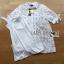 เสื้อผ้าเกาหลี พร้อมส่งเชิ้ตเดรสผ้าลูกไม้สีขาวประดับโบที่แขนเสื้อสไตล์มินิมัลสุดหวาน thumbnail 18