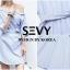 Mini dress รายริ้วฟ้าสลับขาว ทรงเก๋ thumbnail 8