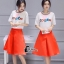 เสื้อผ้าเกาหลี พร้อมส่งCoCo Shirt + Skirt Pant Set thumbnail 5