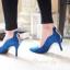 รองเท้าคัทชู CÉLINE Style รองเท้าคัทชูหัวแหลม ทรงสวย ดีเทลหนัง Nubuck อัพดีกรีความเก๋ และดูไฮขึ้นไปอีกด้วยการแต่งอะไหล่ทองดีไซน์หยดนำ้ด้านหลังรองเท้า ด้านข้างดีไซน์เก๋ โฉบเฉี่ยวดุจคลื่นนำ้ ส้นสูงเรียว Wow!!! สวยเวอร์จร่าาา สีสวยสุดดูดี ไฮโซเวอร์ คู่นี้สาว thumbnail 4