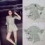 เสื้อผ้าเกาหลีพร้อมส่ง jumpsuit สีเขียวอ่อน คอวี thumbnail 4