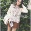 เสื้อผ้าเกาหลี พร้อมส่งเสื้อผ้าคอตตอนลินินปักลายดอกไม้ตกแต่งระบายสไตล์เฟมินีน thumbnail 10