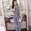 เสื้อผ้าเกาหลี พร้อมส่งJumpsuit คอปก งานสวยมากๆผ้าดีสุดๆ thumbnail 4