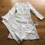 ชุดเดรสเกาหลีพร้อมส่ง เดรสผ้าลูกไม้ฉลุสีขาวคลาสสิก thumbnail 11