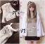 เสื้อผ้าเกาหลี พร้อมส่ง เสื้อคลุมกระต่ายแขนยาวนุ้มมนุ่ม เก๋ๆด้วยดีเทลแต่งฮู้ดหูกระต่าย thumbnail 4