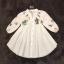 เสื้อผ้าเกาหลีพร้อมส่ง เสื้อคอจีนสีขาว แขนศอก thumbnail 4