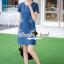 ชุดเดรสเกาหลี พร้อมส่งLV Pocket stick Denim Dress thumbnail 4