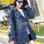 Sophie Winter Double-Breasted Washed Denim Coat thumbnail 1
