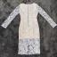 ชุดเดรสเกาหลีพร้อมส่ง ชุดLong dress ลูกไม้สีเทาเรียบหรู thumbnail 8