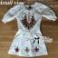 Spring Floral Vivid Embroidered Mini Dress, Korea thumbnail 6