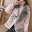 Lisa Pastel Faux Fur and Suede Jacket thumbnail 2