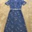 ชุดเดรสเกาหลี พร้อมส่งEmbroidered Floral Denim Dress thumbnail 7