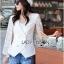Maria Elegant Double-Breast White Lace Jacket thumbnail 6