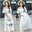 Emilia Bohemian Off-Shoulder Embroidered Cotton Lace Maxi Dress thumbnail 7
